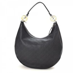 Gucci Black Leather Twins Hobo Bag